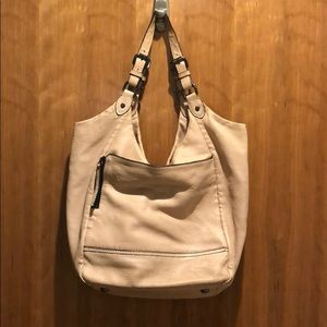 Olivia Harris Blush leather satchel bag
